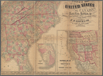 Lloyd's new county map of the United States and Canadas showing battle fields, railroads, &c., compiled from the latest government surveys & other reliable & official sources