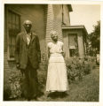 Top and Susan Hawkins, African American ex-slave portrait