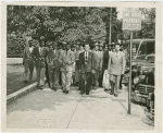 Part of public turned away from Supreme Court hearing on the Trenton Six case, May 1949