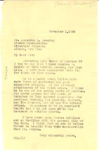 Letter from W. E. B. Du Bois to Rhodes Scholarships