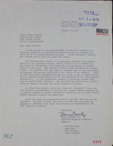 Letter from Bancroft Rice School Managing Committee to Judge W. Arthur Garrity