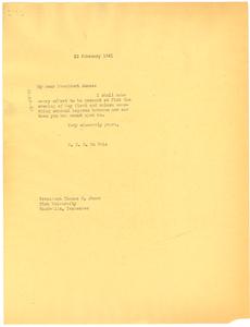 Letter from W. E. B. Du Bois to Thomas E. Jones