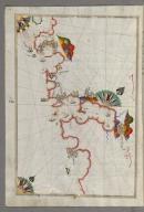 Fol. 150a Adriatic coastline from Budva to Dubrovnik Walters Ms. W.658, Book on navigation, Kitāb-i baḥriye