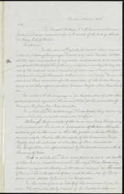 Letter] To Wendell Phillips, Wm L. Garrison & Francis Jackson, Trustees named in the 16th Article of the Will of Charles F. Hovey, late of Boston. Gentlemen [manuscript