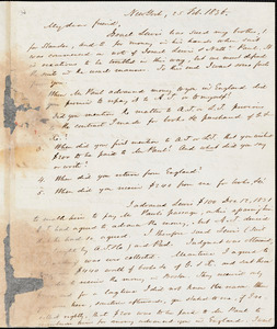 Letter from Lewis Tappan, New York, [New York], to William Lloyd Garrison, 1836 Feb[ruary] 25