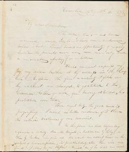 Letter from John Greenleaf Whittier, Haverhill, [Massachusetts], to William Lloyd Garrison, 1833 [November] 12th