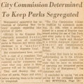 """""""City Commission Determined to Keep Parks Segregated."""""""