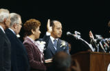 Richard Arrington taking the oath of office during his inauguration as the mayor of Birmingham, Alabama.