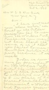 Letter from Gordon Owens to W. E. B. Du Bois