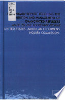 Preliminary report touching the condition and management of emancipated refugees
