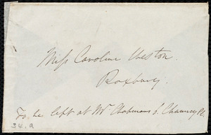 Letter from Edmund Quincy, Dedham, [Mass.], to Caroline Weston, Sunday, Apr[il] 3, [1841?]