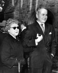Mary Pickford at Jeanette MacDonald funeral
