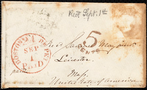 Letter from S. Alfred Steinthal, Bridgewater, [England], to Samuel May, August 17th, 1854