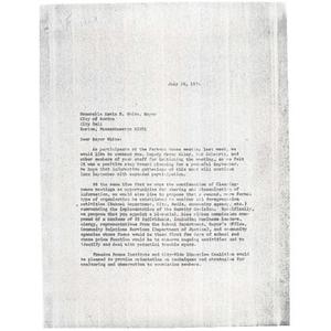 Letter, Mayor Kevin White, July 23, 1974.