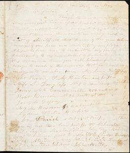 Thumbnail for Letter from Joseph Cassey, Philad[elphi]a, [Pennsylvania], to William Lloyd Garrison, 1833 Feb[ruar]y 12