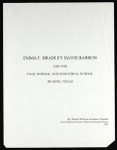 Emma F. Bradley Davis Barron and the Page Normal and Industrial School Hearne, Texas, 2001