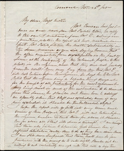 Letter from Mary Merrick Brooks, Concord, [Mass.], to Caroline Weston, Nov. 24th / [18]45