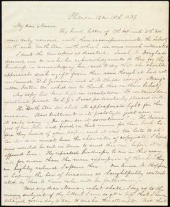 Letter from Lucretia Mott, Philad[elphi]a, [Penn.], to Maria Weston Chapman, 12 mo[nth] 16th [day] 1839