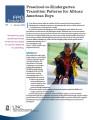 Preschool-to-Kindergarten transition patterns for African American boys