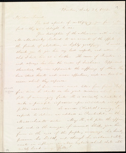 Letter from William Lloyd Garrison, Boston, [Mass.], to Henry Egbert Benson, July 21, 1832
