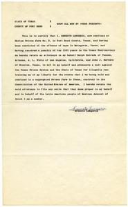 Affidavit from Ernesto Longoria