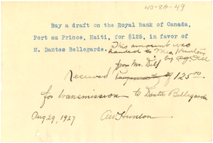 Letter from Augustus Granville Dill to Addie W. Hunton