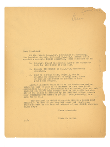 Circular letter from Irene C. Malvan to N.A.A.C.P.