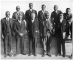 Colored Members of the National Council of the YMCA; Top row: M. W. Dogan, W. T. Nelson, W. R. Valentine, Max Yergan, J.S. Jackson; Front Row: R. L. Brokenburr, C. W. Florence, John Hope, R. R. Moton, C. H. Tobias