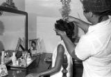 Susie Sanders in a bedroom in her home before her graduation from Sidney Lanier High School in Montgomery, Alabama.
