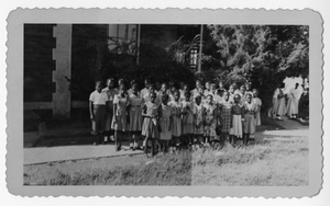 Photograph African American girl scouts, Manchester, Georgia, 1953
