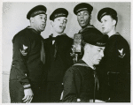 Group photograph of the U.S. Coast Guard Quartet members while singing, New York, N.Y