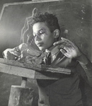 Harlem Community Art Center: III. Student in sculpture class; 290 Lenox Avenue, Manhattan