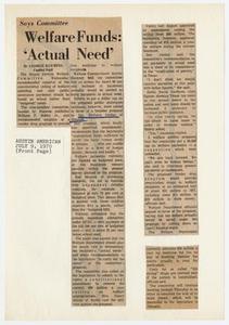 Barbara Jordan Scrapbook, July - October, 1970 Texas Senate Papers