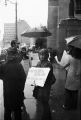 Picketers outside the Jefferson County courthouse in Birmingham, Alabama, protesting the trial of thirteen Black Panthers in New York City.