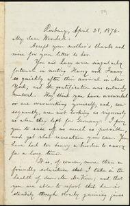 Letter from William Lloyd Garrison, Roxbury, [Mass.], to Wendell Phillips Garrison, April 28, 1874