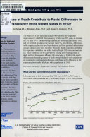 How did cause of death contribute to racial differences in life expectancy in the United States in 2010? /