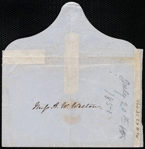 Partial letter from Mary Anne Estlin, [Bristol, England?], to Anne Warren Weston, [1851?]