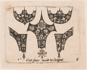 """Five Different Fillets,"" Plate 6 from ""Goldsmith Ornament Designs"""