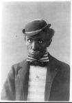 Man in blackface as minstrel
