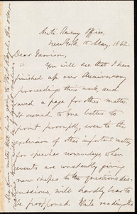 Letter from Oliver Johnson, New York, [N.Y.], to William Lloyd Garrison, 15 May 1862
