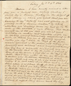 Letter from Calbin Allen, Roxbury, [Massachusetts], to Maria Weston Chapman, 1840 Jan[uary] 5