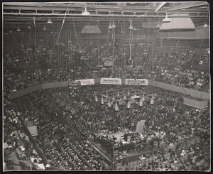 [View of a meeting or civil rights rally]