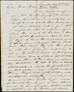 Letter from Hiram Wilson, Toronto, [Ontario], to Amos Augustus Phelps, 1839 Aug[ust] 19
