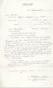 Community Relations Assistance Request, July 12, 1983