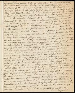 Letter from Anne Warren Weston to Deborah Weston, Saturday Morning. [ca. 21 Jan. 1842?]