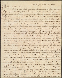 Letter from William Lloyd Garrison, Brooklyn, [Conn.], to Samuel Joseph May, Sept. 23, 1836