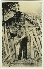 """A postcard picturing Uncle Tom and his cabin Caption on postcard: """"UNCLE TOM AND UNCLE TOMS CABIN"""""""