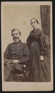 [Brigadier General Charles Swain Lovell of 10th, 14th, and 18th Regular Army Infantry Regiments in uniform with his wife, Margaret Armstrong Lovell]