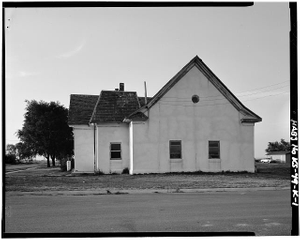 Old First Baptist Church, Fourth & Washington Streets, Nicodemus, Graham County, KS