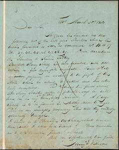 Thumbnail for Letter from Henry Egbert Benson, Prov[idence, Rhode Island], to William Lloyd Garrison, 1864 March 25th
